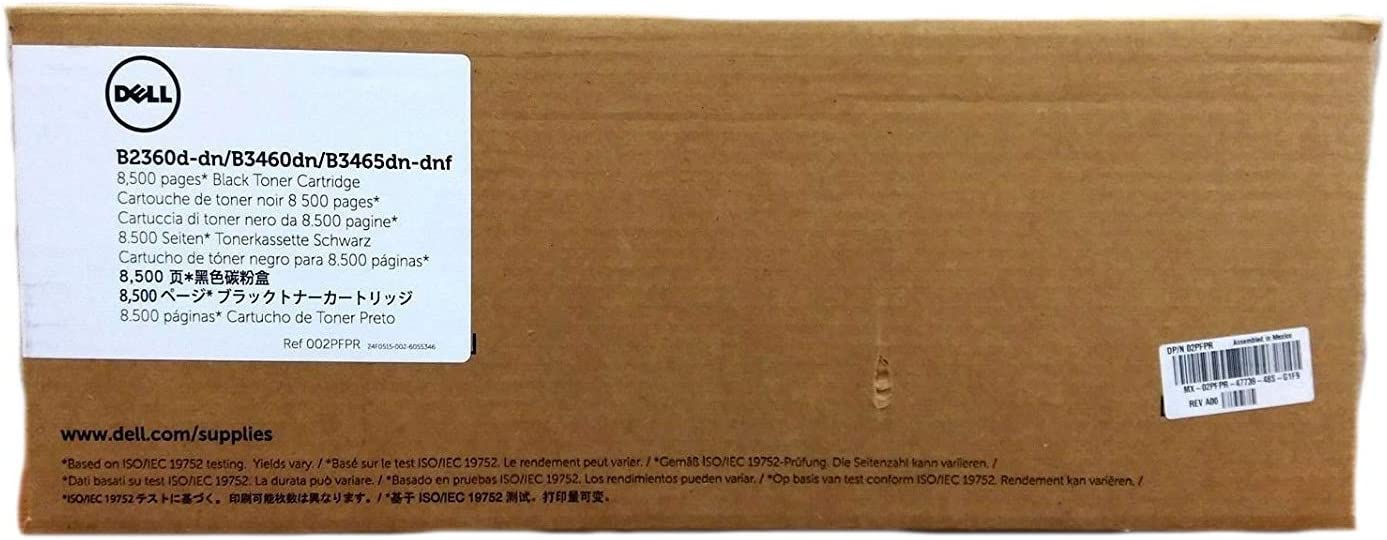 DELL OEM Toner Cartridge, Yield 8,500