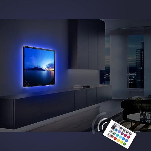 Derlson Bias Iluminación para TV Tira de luces LED / Kit de retroiluminación para Home Theater, debajo del armario, monitor, muebles, decoración: Amazon.es: Jardín