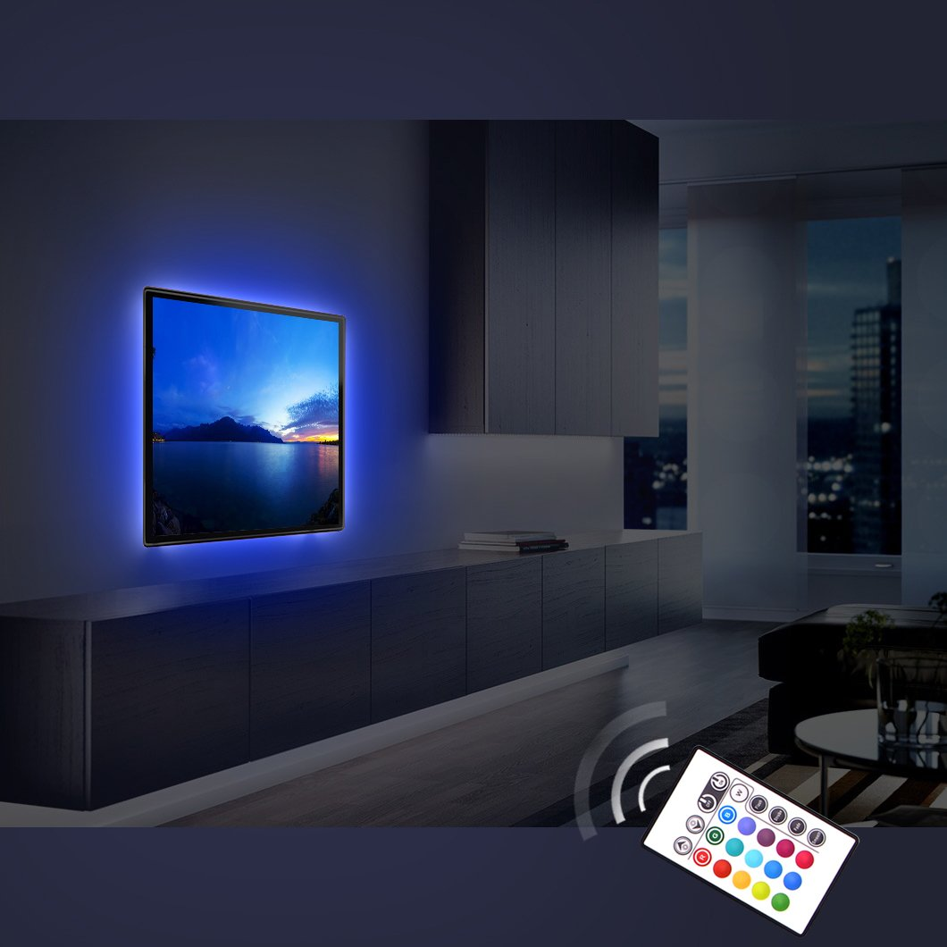 Home Theater Back Light Kit Ambient Under Cabinet Furniture Decor Multi Color Ebay