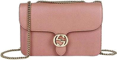 Gucci Women's Soft Pink Leather Interlocking G Large Crossbody Chain Bag  510303 5806: Handbags: Amazon.com