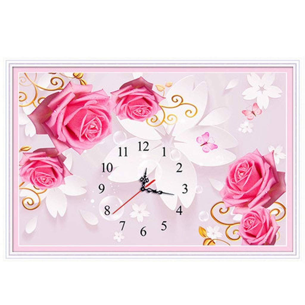 Beautiful girl's shop 5D Rose Watch Living Room Small Diamond Painting (Color : B, Size : 8555)
