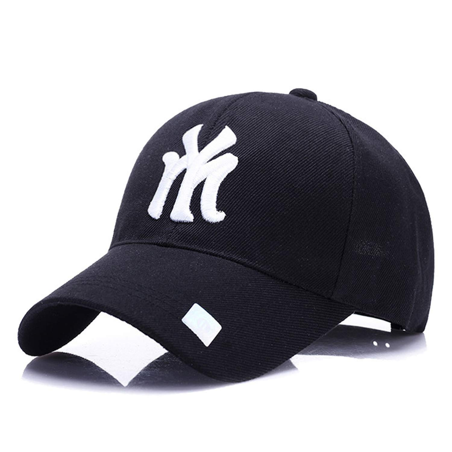 b92f4bf1c87 Amazon.com  LONIY NY Baseball Cap Summer mesh Hats Black Adult Unisex  Casual Baseball caps Adjustable Cap Snapback caps Outdoors  Clothing
