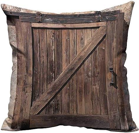 YouXianHome - Funda de cojín con Puerta corredera y Textura rústica, diseño Vintage de Estilo rústico, cómoda y Transpirable (impresión a Doble Cara): Amazon.es: Hogar
