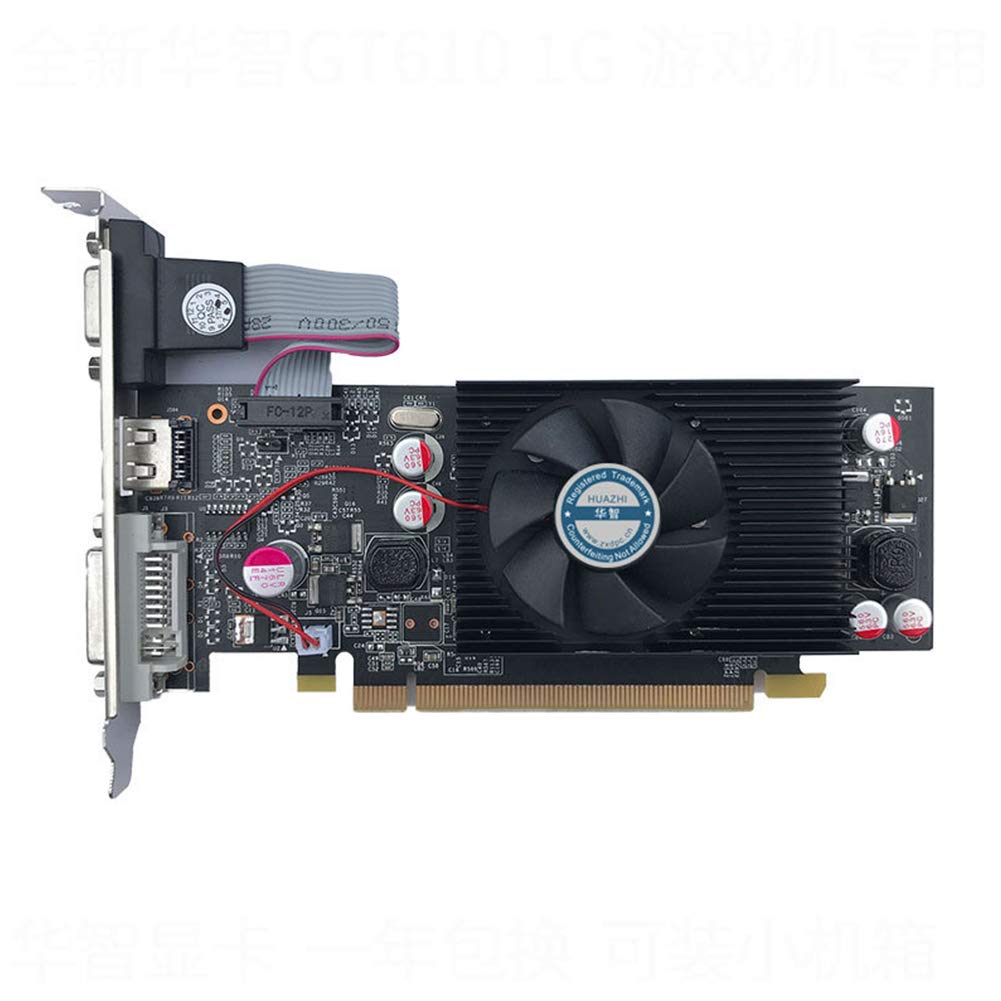 Tarjeta gráfica GeForce Chipset Video GT610 1GB DDR2 para PC ...