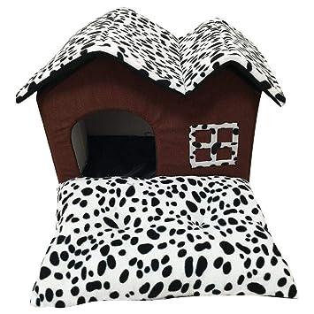 Depruies - Nido para Mascotas extraíble y Lavable, caseta para Cuatro Estaciones, Doble Techo