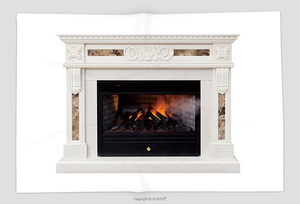 Supersoft Fleece Throw Blanket White Luxury Artificial Electronic Fireplace With Firewoods Isolated On White 318447623 by vanfan