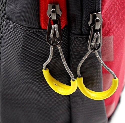 lumanuby hombro bolsa impermeable multifuncional paquete de gimnasio para hombres y mujeres al aire libre Ciclismo senderismo camping viaje paquete Casual Fashion Ultra–delgada bolsa de deporte, col Rojo