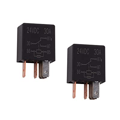 Ehdis 5 Pin 24VDC 30A SPDT Multi-Purpose Relay Heavy Duty Standard Relay Kit, Pack of 2: Automotive