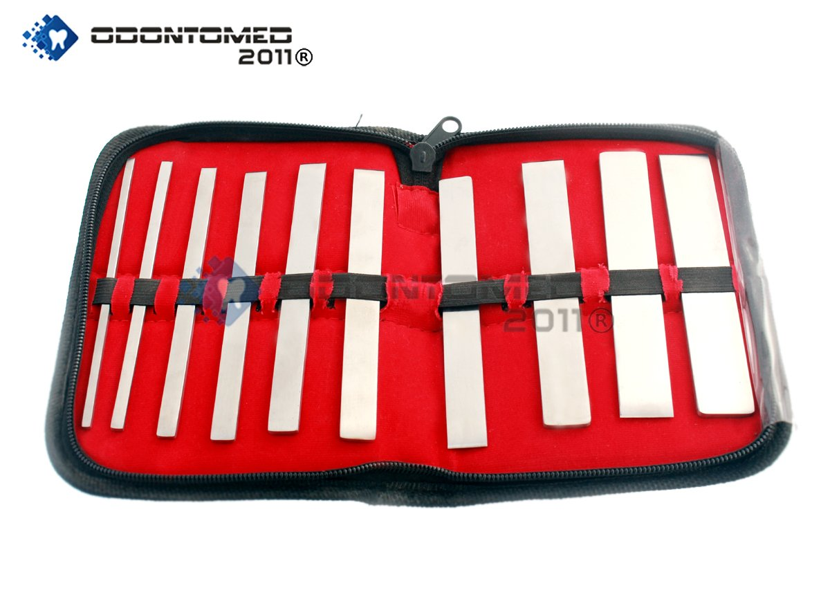 OdontoMed2011 10 PIECES SWISS OSTEOTOMES SET ORTHOPEDIC INSTRUMENTS
