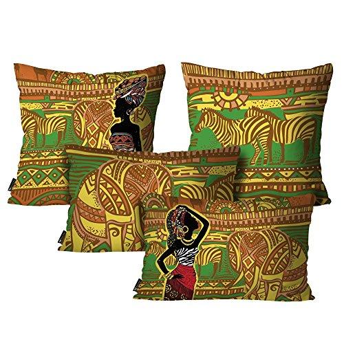 Kit com 4 Almofadas Africanas Colorido - AL-DEC4102-KIT - Mdecore