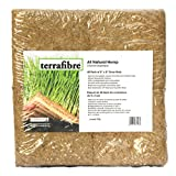 "Terrafibre Hemp Grow Mat - Perfect for Microgreens, Wheatgrass, Sprouts - 40 Pack 5"" x 5"" (Fits 5"" by 5"" Growing Tray or 8 in a Standard 10"" X 20"" Germination Tray) Environmentally Friendly, Fully Biodegradable - Can be used in Humidity Domes and Hydroponic Growing"