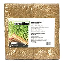 """Terrafibre Hemp Grow Mat - Perfect for Microgreens, Wheatgrass, Sprouts - 40 Pack 5"""" x 5"""" (Fits 5"""" by 5"""" Growing Tray or 8 in a Standard 10"""" X 20"""" Germination Tray) Environmentally Friendly, Fully Biodegradable - Can be used in Humidity Domes and Hydroponic Growing"""