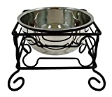 YML 10-Inch Black Wrought Iron Stand with Single