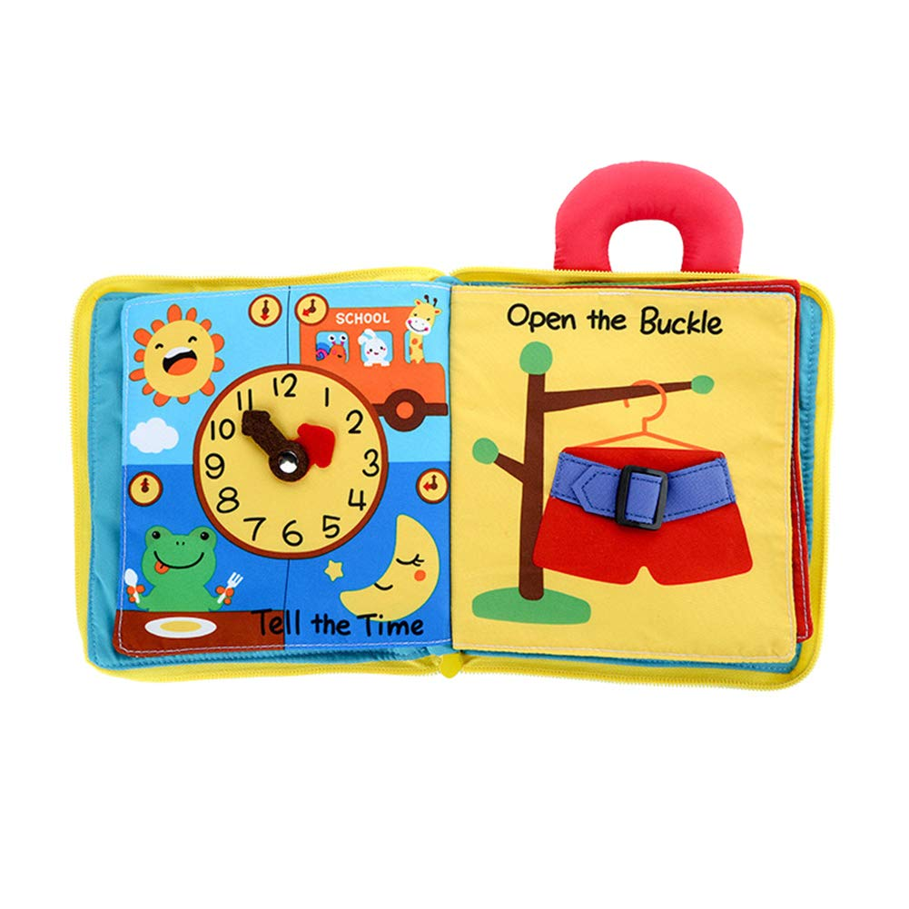 Senexion 3D Stories Book Educational Cloth Book Learning Reading Portable Gift for Children Baby