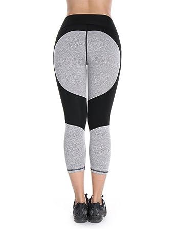 e8f79d18e1f8d Womens 3/4 Capris Workout Tights Yoga Pants Active Running Leggings: Amazon.co.uk:  Clothing