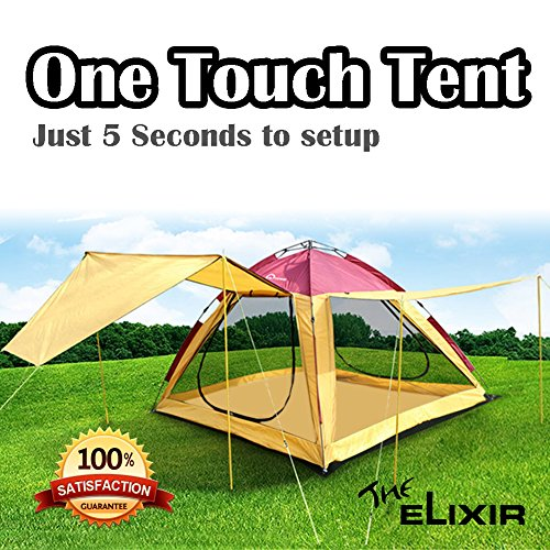 Elixir outdoor Instant Tent Easy to set up in 6 sec for 6 person, Camping, Hiking , Beach Sports