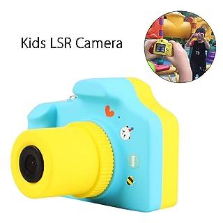 RUNGAO Macchina Fotografica per Bambini, Mini Fotocamera Digitale Portatile 1.5 Pollici LCD Mini Videocamera HD 1080P Regalo dei Giocattoli per Bambini (Blu) RR234610
