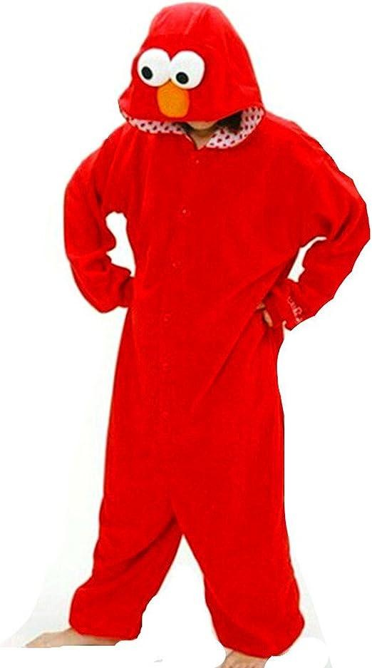 Tier Pyjama Cosplay Cookie Elmo Onesie Kostüme Kigurumi Schlafanzug Erwachsene
