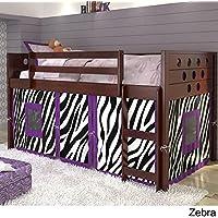 Twin Circles Low Loft Bed - Zebra Tent