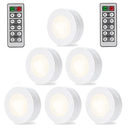 SOLLED Wireless LED Puck Lights, Kitchen Under Cabinet Lighting With Remote  Control, Battery Powered