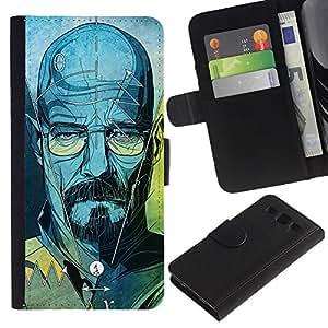 Billetera de Cuero Caso Titular de la tarjeta Carcasa Funda para Samsung Galaxy S3 III I9300 / Series Original Meth Walter Tv Jesse / STRONG