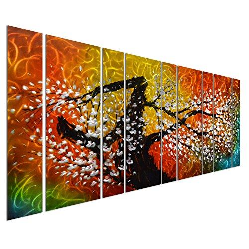Pure Art Gigantic Tree of Life Metal Wall Art Decor, Oversize Colorful (Nuevo Living Cross)