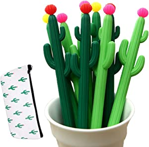 Leaf & cici-30 cactus shaped roller pens, cactus gel ink pens, writing pens, office supplies, school supplies, household supplies, etc