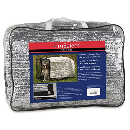 (Pro Select Solar Crate Canopy, Protective Dog Crate Cover)