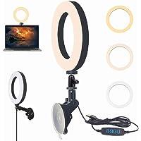 Usb Led Ring Light Med sugkopp, Macllar ringljus för zoom-samtal, Youtube, streaming, selfie, videosamtal, webbkamera…