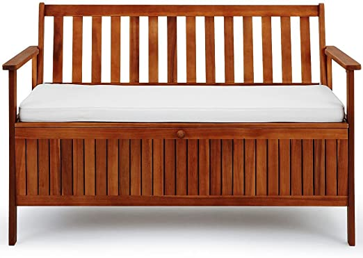SSITG - Banco de jardín 2 en 1 con asiento, banco de madera, banco de jardín: Amazon.es: Jardín