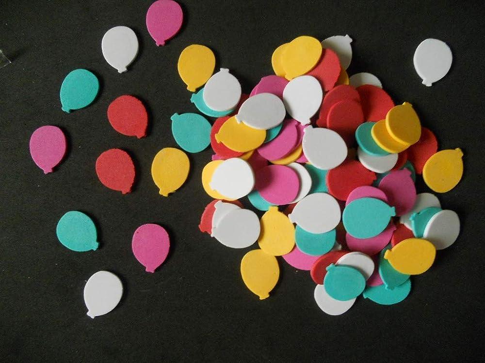 100 Figuras con forma de globo de goma eva Silvys para ...