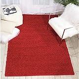 Rug Squared Woodstock Red Shag Rug (5' x 7')