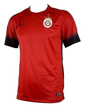 Nike 3ª Equipación Galatasaray 2015/2016 - Camiseta Oficial Hombre, Color Rojo/Negro