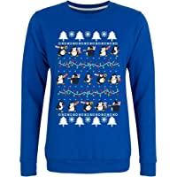 Psycho Penguin Women's Seasonal Cheer Christmas Jumper Sweater Purple
