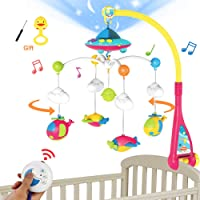 BOBXIN Baby Mobile for Crib, Crib Mobile with Projector and 108 Melodies Music, Crib Toys with Remote Control and…