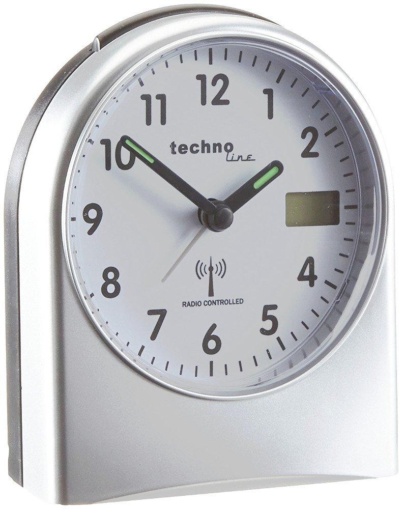 TechnoLine WT 755 Sveglia Radiocontrollata 9.5 x 5.5 x 11.5 cm Plastica Argento