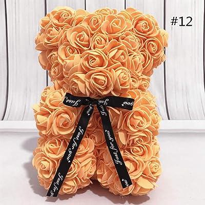 Rose Bear Flower Simulated PE Flower Valentine\'s Day Decoration Love Heart Foam Rose Bear Doll Lovely Bear Birthday Romantic Gift, 25CM by dissylove: Baby [5Bkhe1804628]