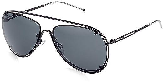 9c23ded85 Emporio Armani Ea 2073 - Óculos De Sol 3001/87 Preto Fosco/: Amazon ...