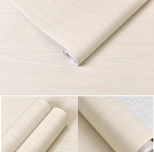 Color blanco madera de arce Contacto Papel Vinilo autoadhesivo ...