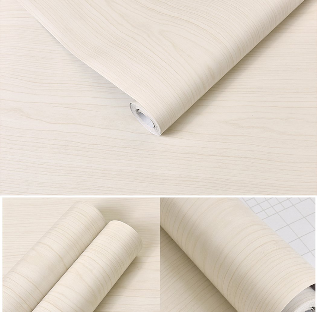 White Maple Wood Contact Paper Vinyl Self Adhesive Shelf Drawer Liner for Kitchen Cabinets Shelves Table Desk Dresser Furniture Arts and Crafts Decal 24 Inches by 16 Feet