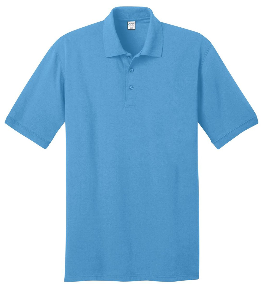 Port & Company Men's Big And Tall Knit Polo Jersey 3X Tall- Light Blue