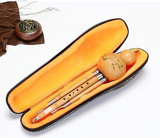 Hulusi Woodwind Instrument cucurbitáceas Resina Boquilla, Bamboo ...