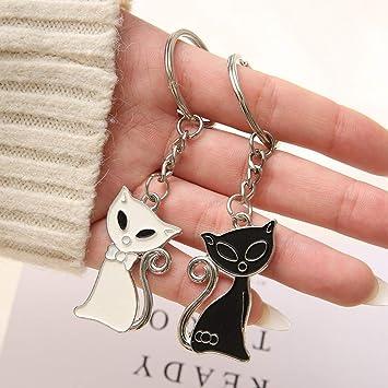 argent Gilde porte-cl/és love cats