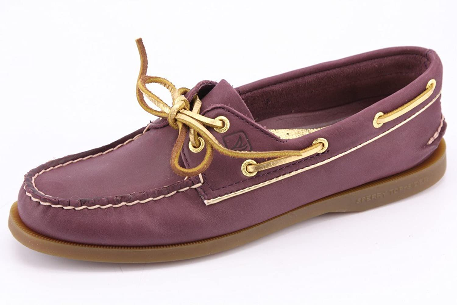 Sperry Top-Sider Women's A/O Black/Gold Piping Boat Shoe