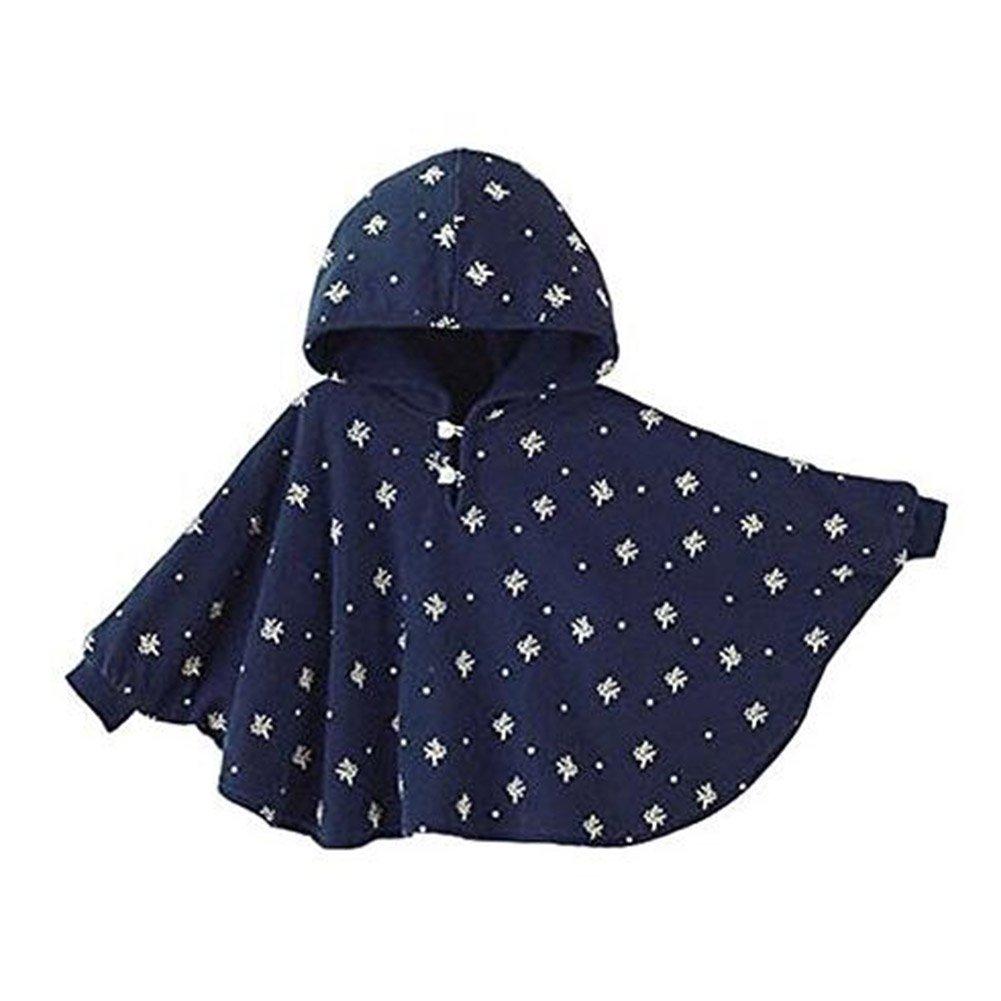 Baby Kinder Kapuzen Cape Mantel Kleinkinder beidseitig Tragen Winter Warme Poncho Hoodie Mantel Haut Freundliche Baby Umhang Highdas