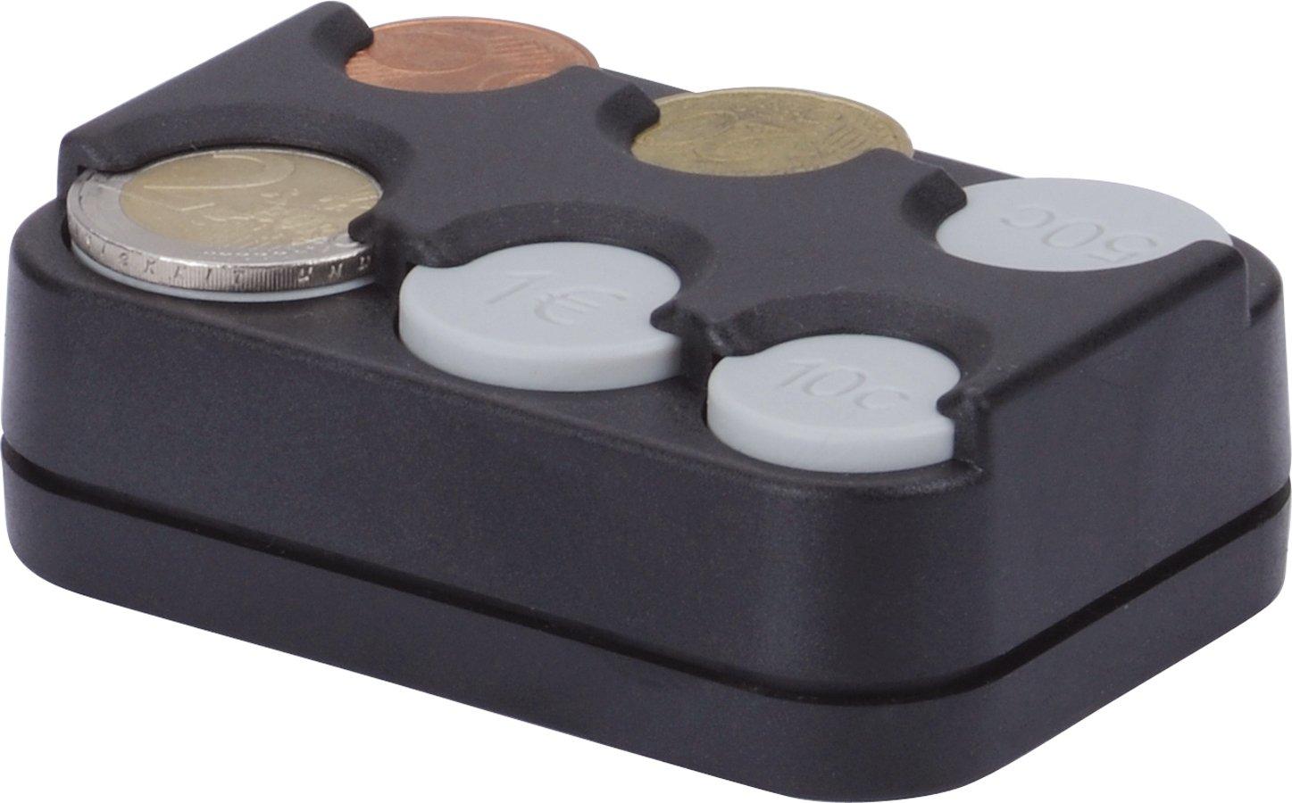 HR-Motion - Scatola Portamonete con 8 compartimenti per Monete da 1Centesimo Fino a 2Euro, Versione con Molla, Made in Germany, Autoadesivo–10310301 Autoadesivo-10310301 Herbert Richter 10310401
