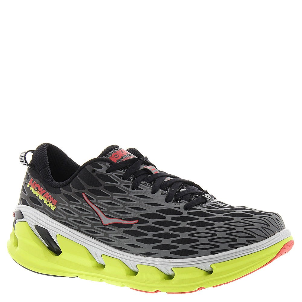 Hoka One One Vanquish 2 Running Sneaker Shoe - Black/Acid - Mens - 10