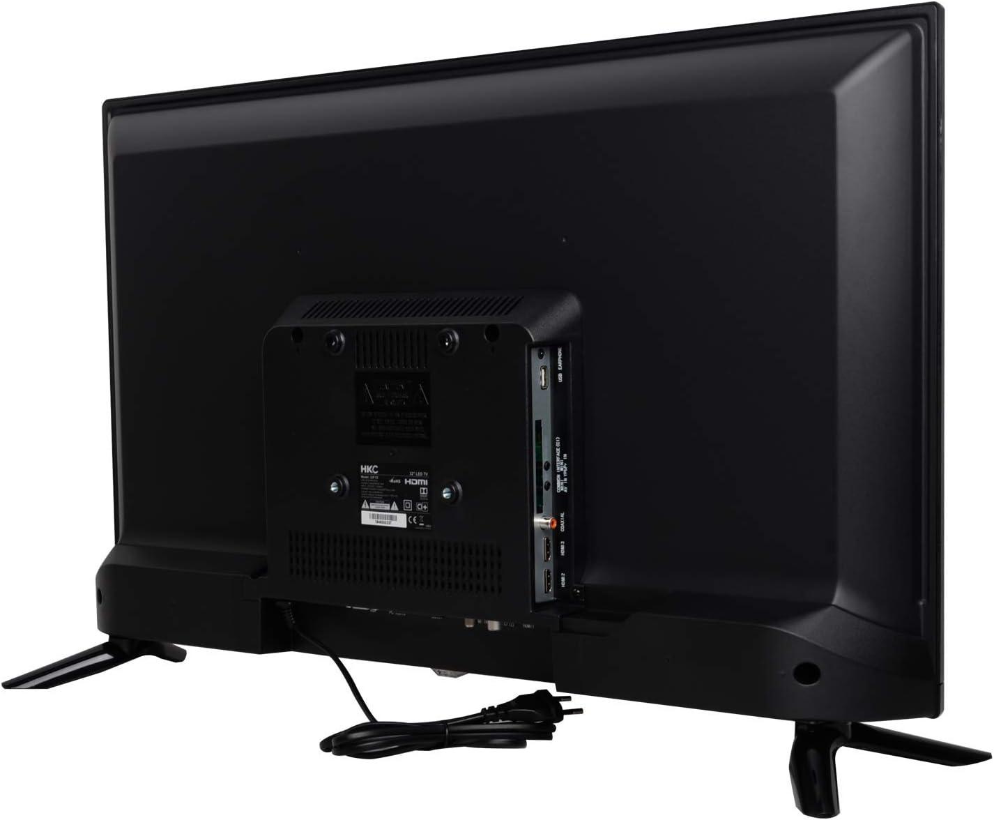 HKC 32F1D LED TV (32 Pulgadas HD TV), Ci+, HDMI+USB, Triple Tuner, 60Hz, Mediaplayer