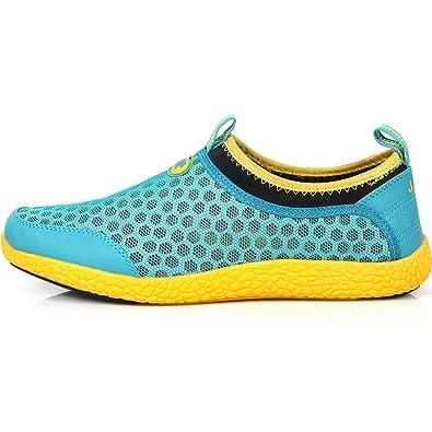 7b51540bd7c04 JustOneStyle New Mens Beach Aqua Athlectic Sports Mesh Water Comfort Shoes  Mint Yellow