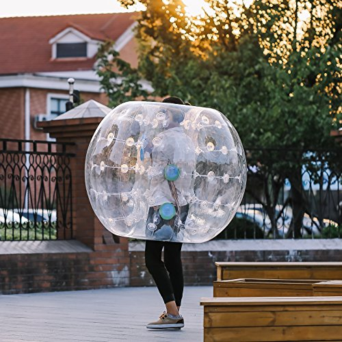 Happybuy Inflatable Bumper Ball 1.2M/4ft 1.5M/5ft Diameter Bubble Soccer Ball Blow Up Toy in 5 Min Inflatable Bumper Bubble Balls for Adults or Child (Transparent, 4ft) by Happybuy (Image #3)